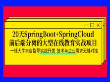 20天SpringBoot+SpringCloud前后端分离的大型在线教育实战项目