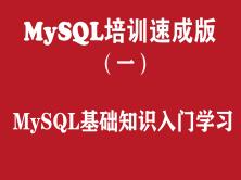 MySQL培训学习教程(一):MySQL基础知识入门学习教程