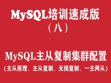 MySQL培训学习教程(八):MySQL主从复制集群配置