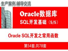 Oracle SQL开发之常用函数_Oracle数据库SQL语言开发与应用实战05