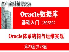 Oracle运维管理实战入门培训教程(15个Oracle运维管理生产案例)