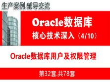 Oracle数据库用户及权限管理_Oracle视频教程_基础深入与核心技术04