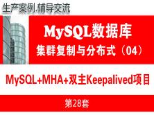 MySQL主从复制项目(MHA+双主Keepalived)_MySQL高可用复制与分布式集群架构04
