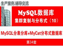 MyCat+MySQL分表分库与MyCat分布式数据库项目_MySQL高可用复制与分布式集群架构10