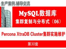 Galera高可用集群项目实施与维护(PXC)_MySQL高可用复制与分布式集群架构06