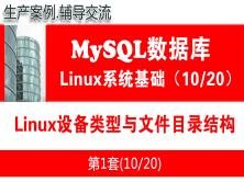 Linux设备类型与文件目录结构_MySQL数据库入门系列教程10