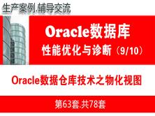 Oracle性能优化之数据仓库技术_Oracle物化视图管理_Oracle性能优化与故障诊断教程09