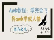 (骏马金龙)awk学完会飞课程:将awk学成人精