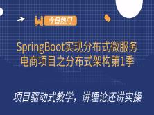 SpringBoot实现分布式微服务电商项目之分布式架构第1季
