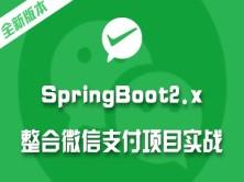 springboot项目实战教程 Spring Boot2.x整合微信支付在线教育网站视频