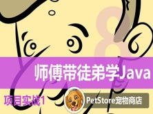 师傅带徒弟学Java第4篇项目实战视频课程1——【Java】PetStore宠物商店