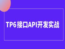 tp6/thinkphp6接口api开发/前后端分离/电商实战