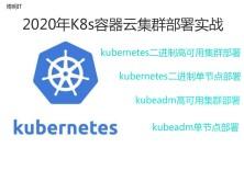 Kubernetes二进制高可用集群部署【测试+生产+2020年8月+1.18.6+监控】