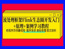 流处理框架Flink生态圈开发入门+原理+案例学习教程