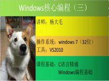 Windows核心编程视频教程(第三部分)