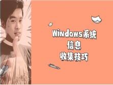 网络安全工程师演示:白帽子是如何进行Windows计算机系统的信息收集的?