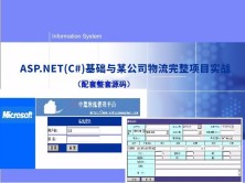 ASP.NET(C#)基础与某公司物流完整项目实战