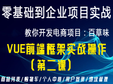 Web前端开发经典案例之vue框架开发电商项目百草味案例(二)