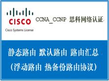 CCNA_CCNP 思科网络认证:静态路由(默认路由、路由汇总、浮动路由、热备份路由协议 HSRP)