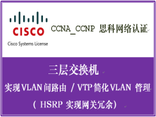 CCNA_CCNP 思科网络认证 三层交换机(实现 VLAN 间路由;HSRP 实现网关冗余)