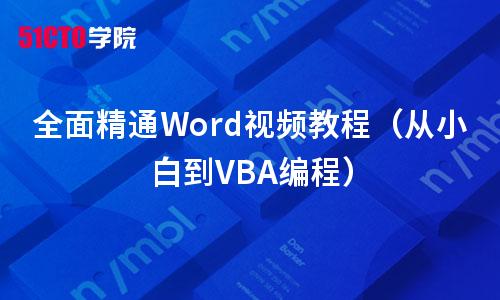 全面精通Word視頻教程(從小白到VBA編程)