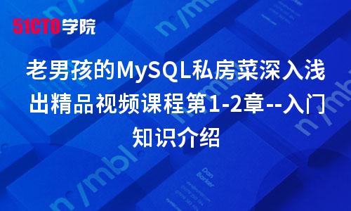 老男孩的MySQL私房菜深入浅出精品视频课程第1-2章--入门知识介绍