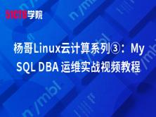 杨哥Linux云计算系列③:MySQL DBA 运维实战视频教程