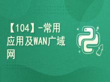 【104】-常用应用及WAN广域网