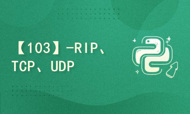 【103】-RIP、TCP、UDP