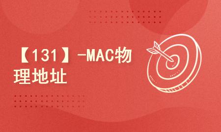 【131】-MAC物理地址