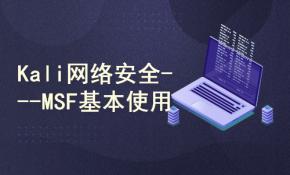 kali linux渗透测试/web安全/白帽子黑客/网络安全/Metasploit基本使用