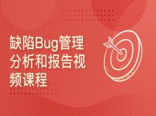 缺陷Bug管理分析和报告视频课程