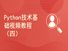 Python技术基础视频教程(四)
